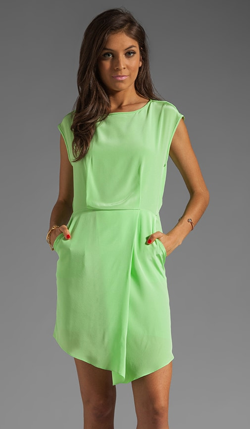 Solid Silk Drape Dress