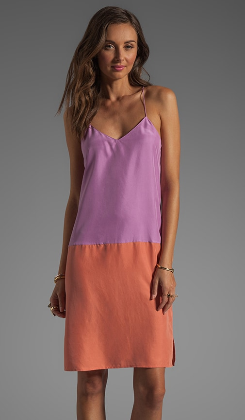 Colorblock V Neck Cami Dress