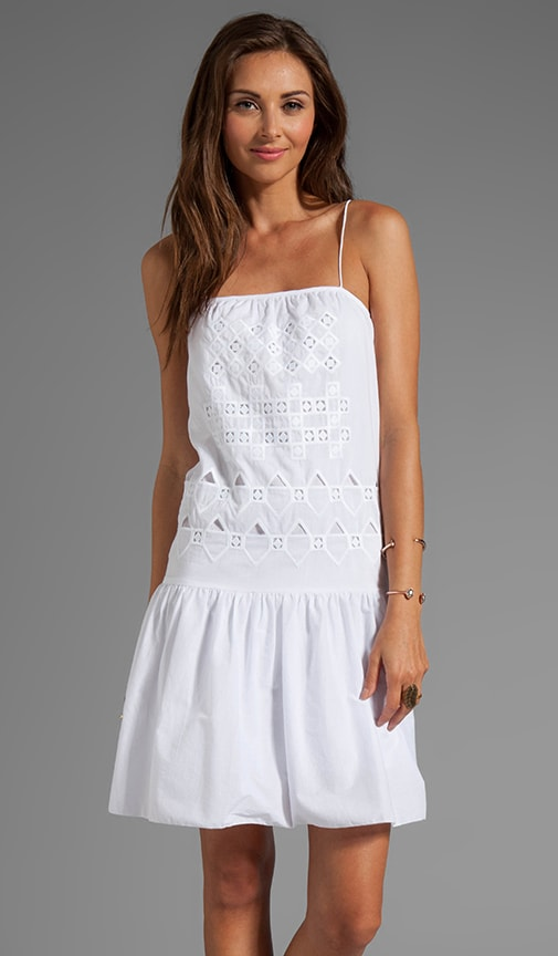 Eyelet Embroidery Strappy Dress