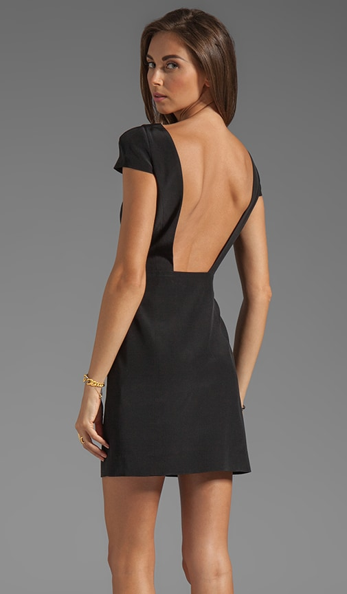 Silk Cap Sleeve Dress