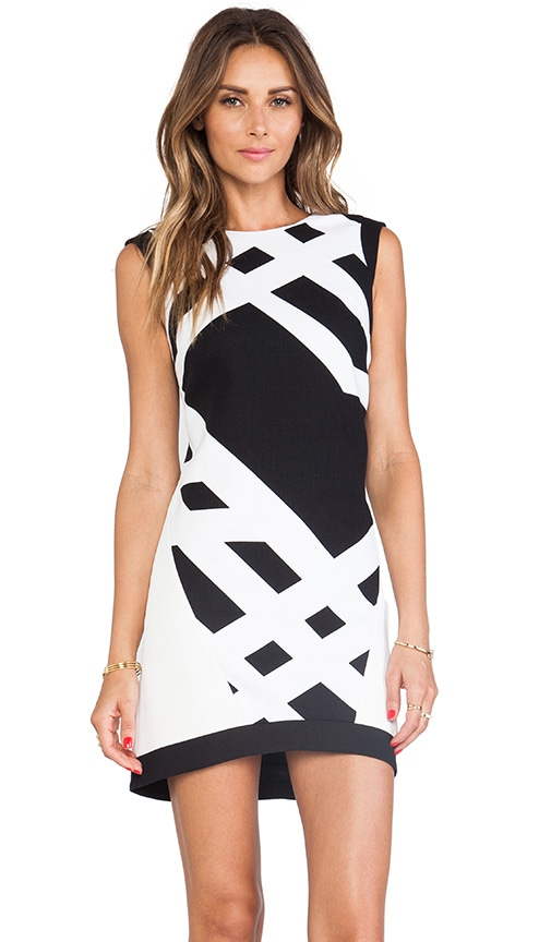 Cotton and Neoprene Sleeveless Dress