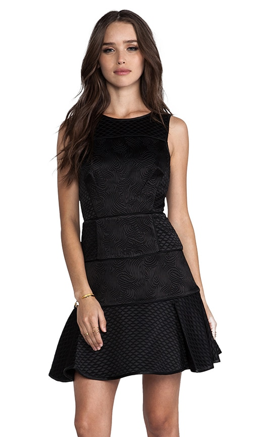 Quilted Matlasse Satin Binding Dress