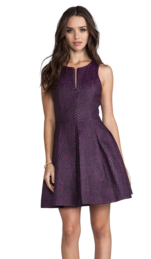 Cobra Jacquard Sleeveless Dress
