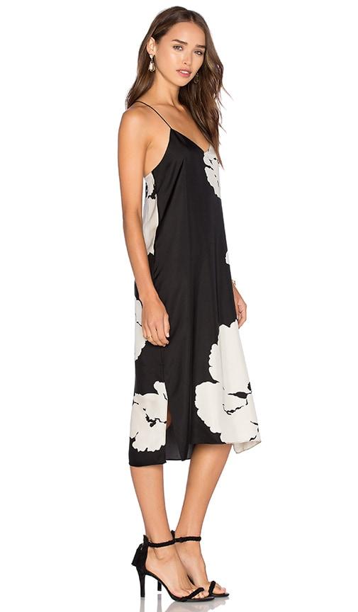 Tibi Slip Dress in Black Multi