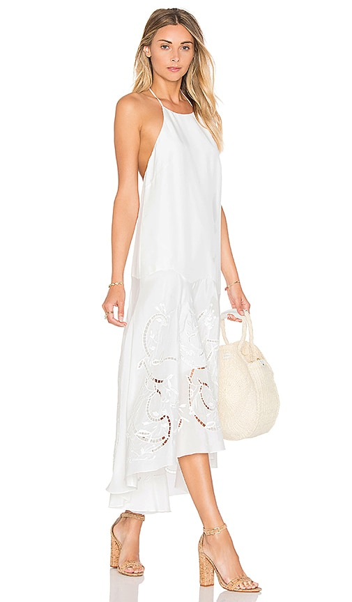 Tibi Circular Flared Dress in White