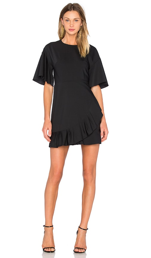 Tibi Pleated Dress in Black