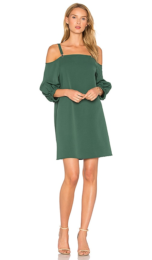 Tibi Suspender Dress in Green