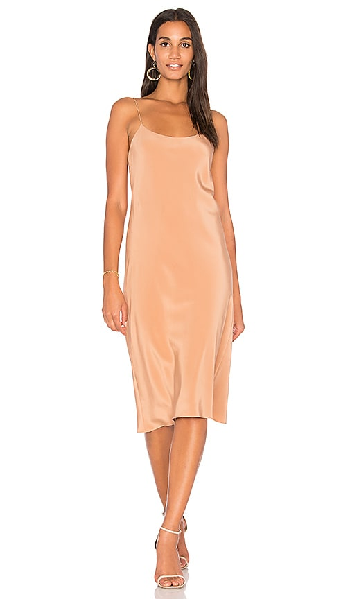 Tibi Bias Dress in Brown