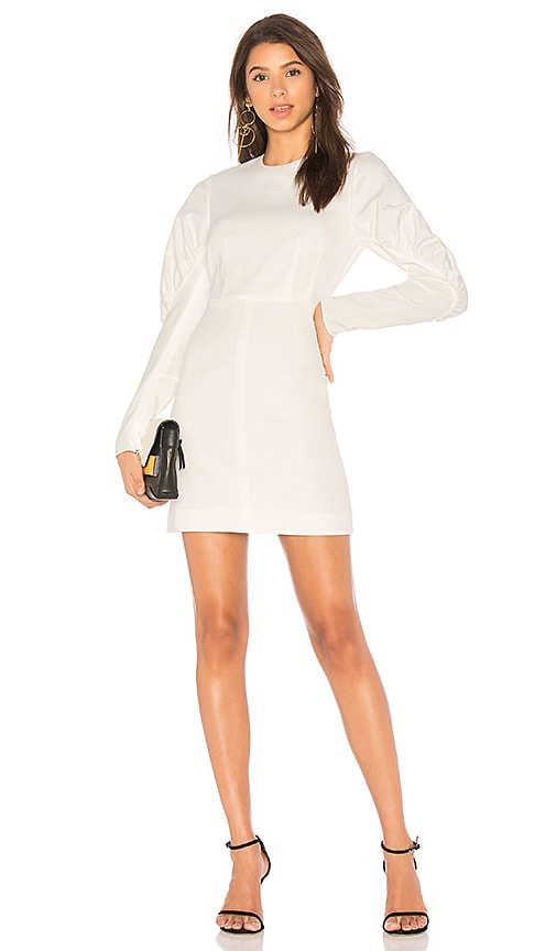 Tibi Florence Short Dress in Ivory