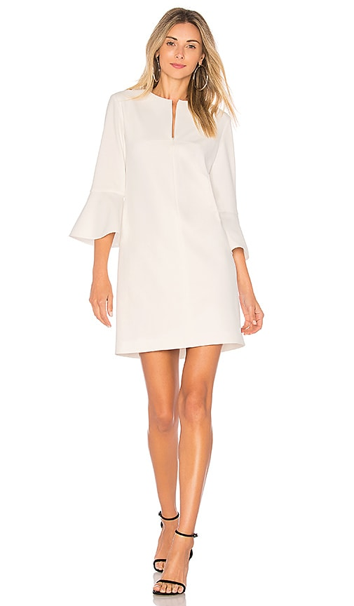 7db308a4d7 Tibi Bell Sleeve Dress in White