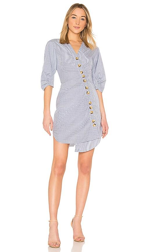 Tibi Asymmetrical Shirt Dress in Blue