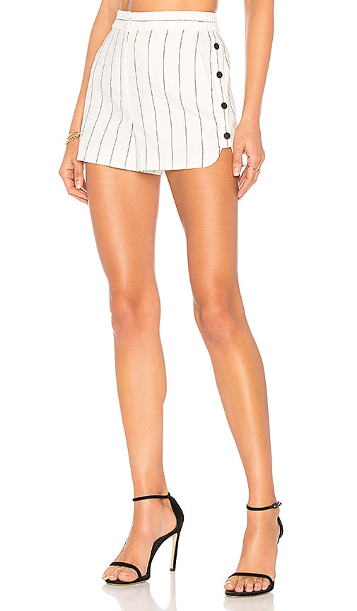 Tibi Stripe Shorts in White