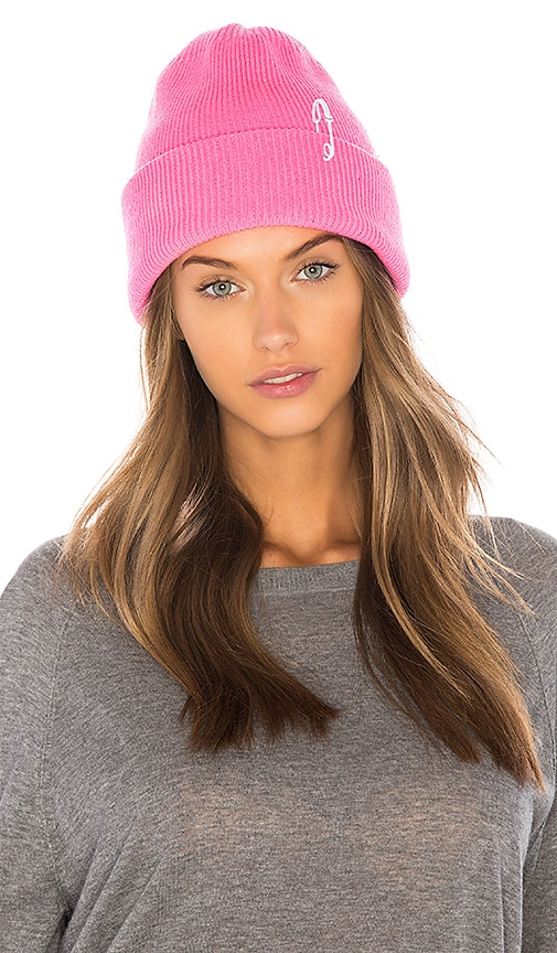 Tibi Cashmere Wool Beanie in Barbie  c039f930dbd