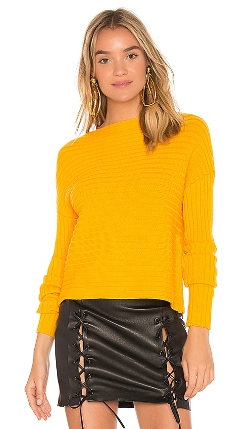 Tibi Structured Pullover in Yellow