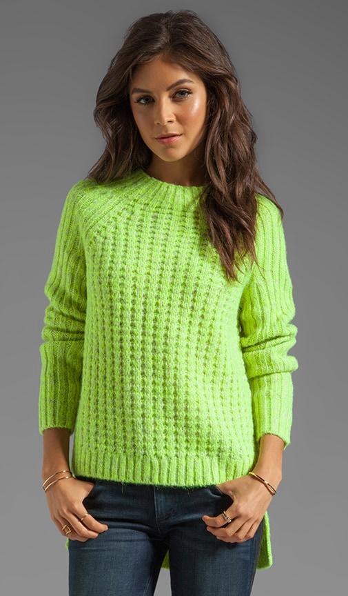 Waffle Knit Asymmetrical Sweater