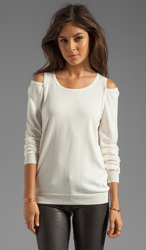 Basic Cut Out Knit Sweater