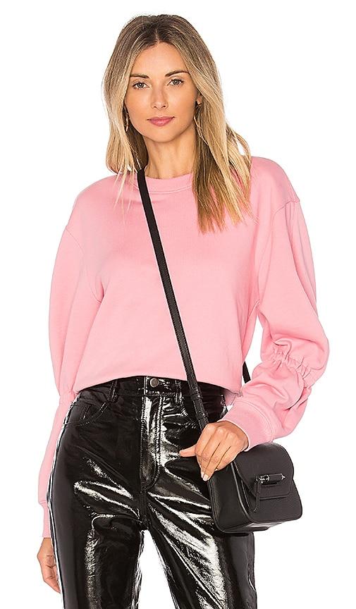 Tibi Sculpt Sweatshirt in Pink