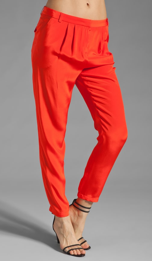 Solid Silk Pant