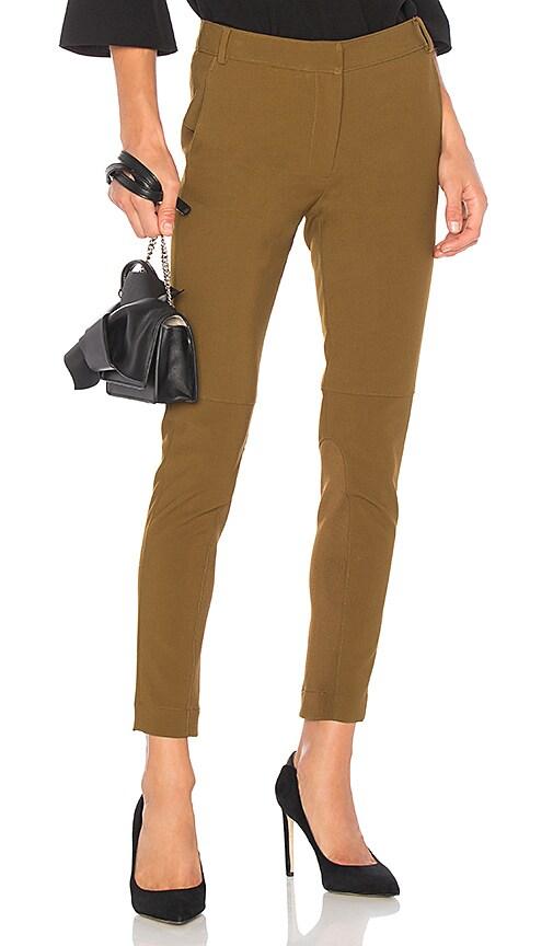 Tibi Anson Skinny Pant in Olive