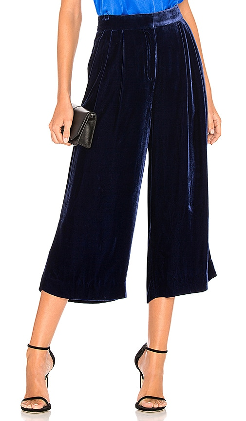 Tibi Stella Wide Leg Pant in Navy