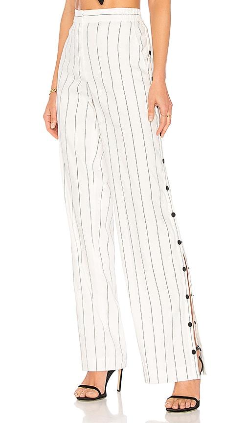 Tibi Stripe Pants in White