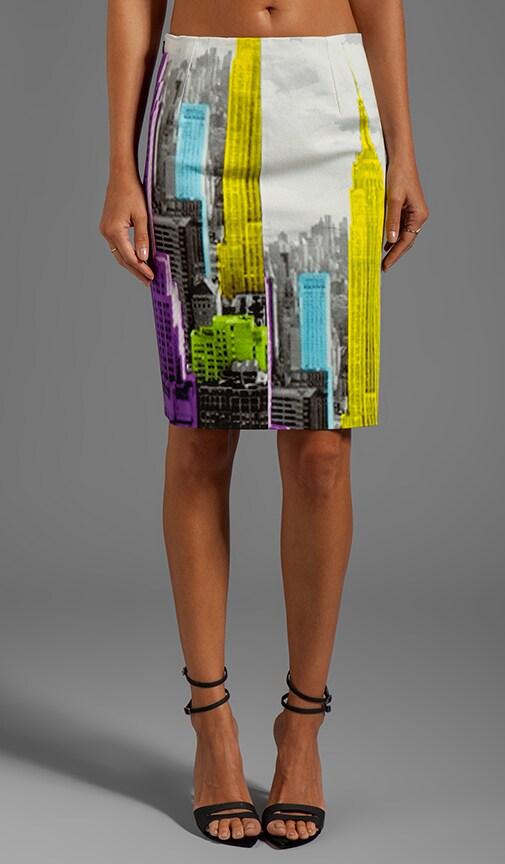 Empire on Denim Pencil Skirt