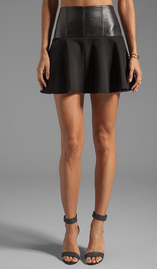 Italian Ponte Yoked Skirt