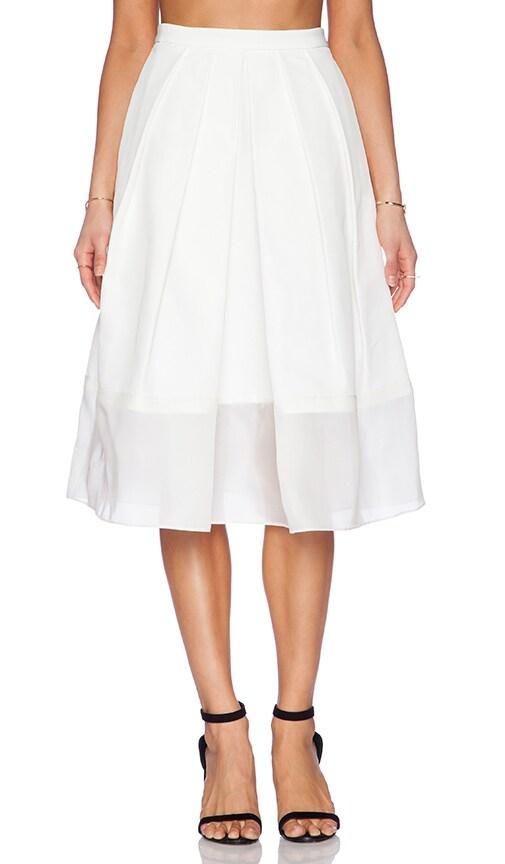 Techno Faille Pleated Skirt