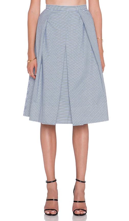 Stripe Shirting Skirt