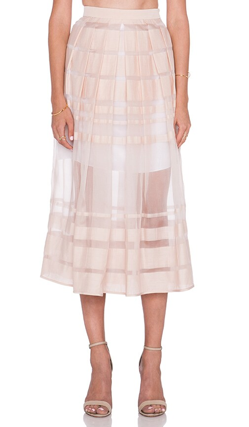 Striped Organza Skirt