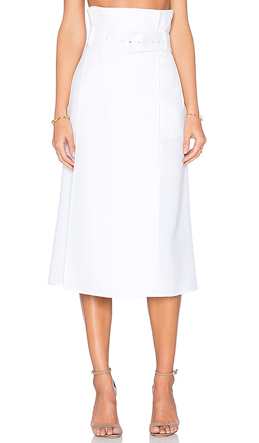 Tibi Skirt in White