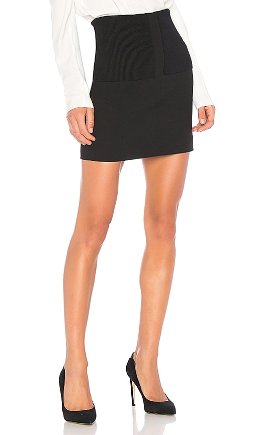Tibi Camille Mini Skirt in Black