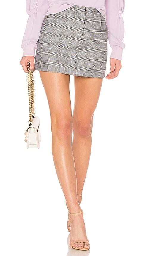 Tibi Mini Trouser Skirt in Gray