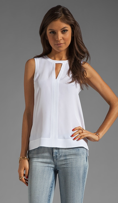 Solid Silk Splitneck Tank