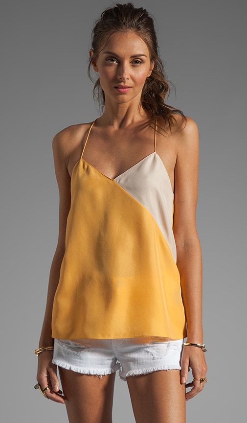 Colorblocked Silk Cami