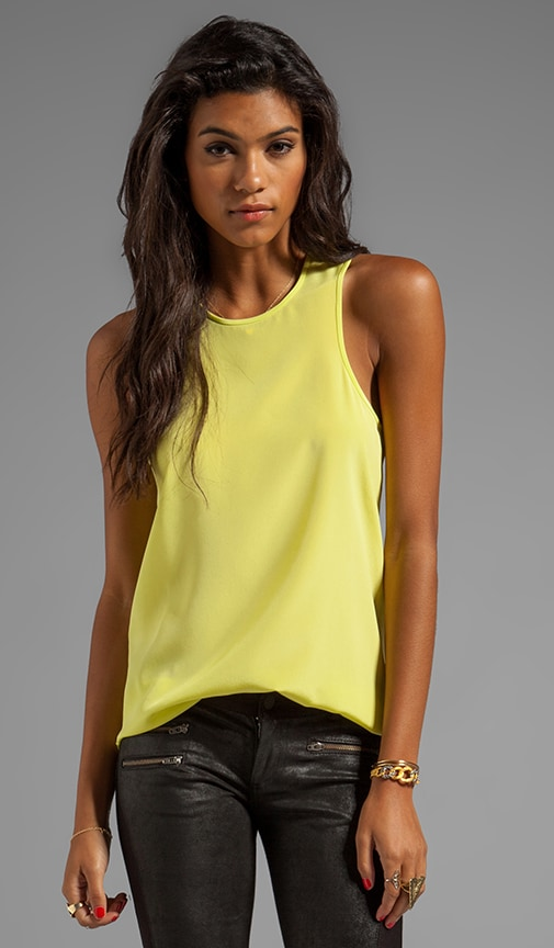 Solid Silk Cut Away Tank