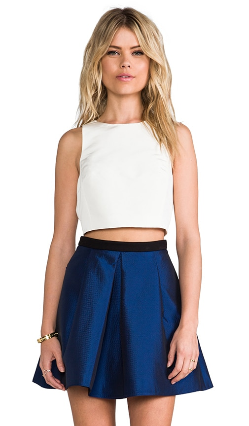 Cropped Silk Top