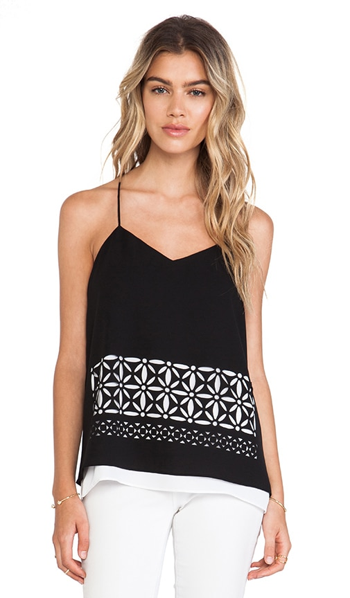 Fleur Cut Out Double Layered Tank