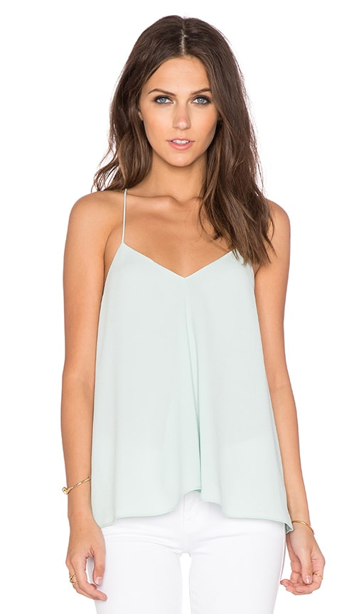 Tibi Savanna Draped Cami in Mint