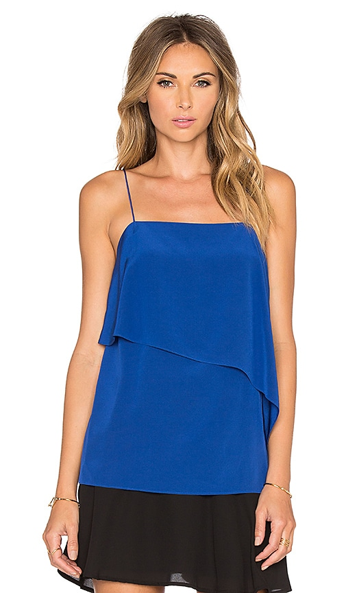 Tibi Draped Cami in Blue