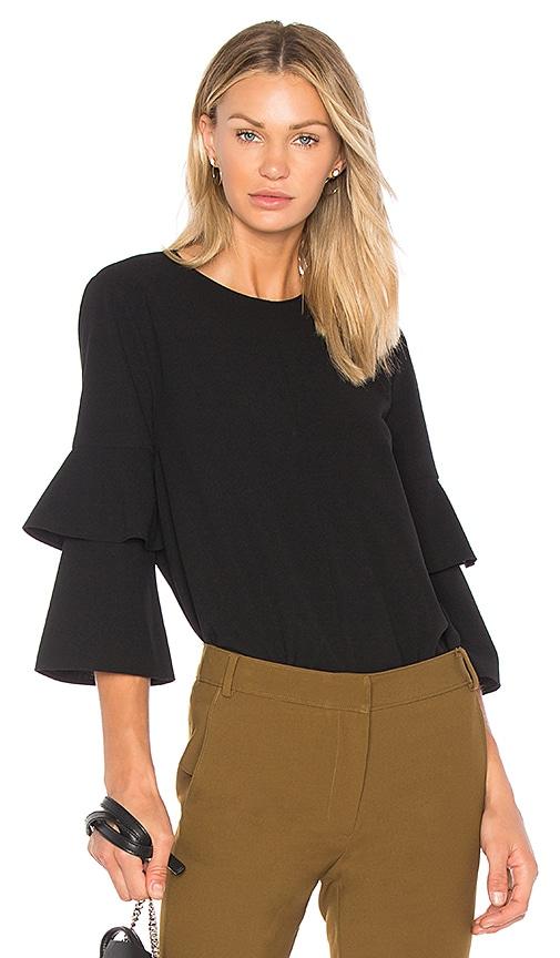Tibi Bell Sleeve Top in Black