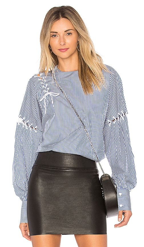 Tibi Stripe Shirt in Blue