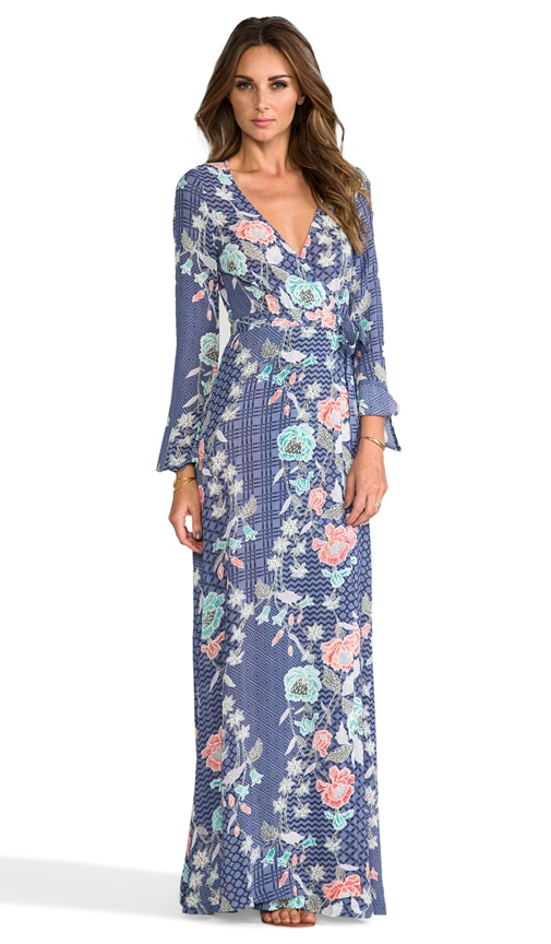 Tigerlily batik wrap maxi dress