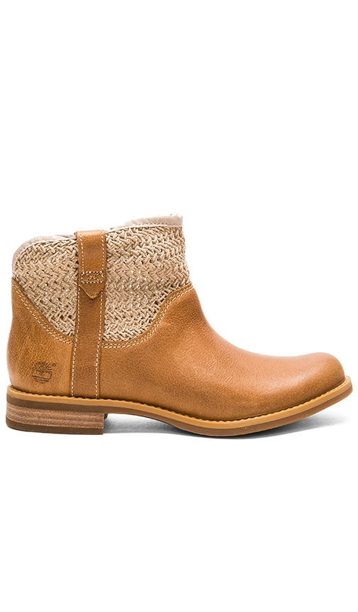 Timberland Savin Hill Leather & Fabric Ankle Boot in Tan
