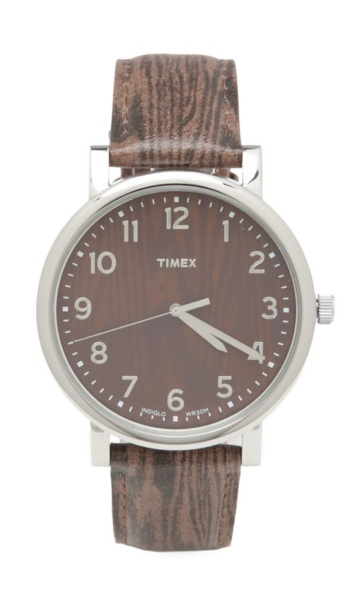 Originals Classic Round Wood Effect Watch