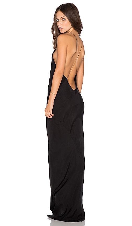 TITANIA INGLIS x REVOLVE Long Plunge Dress in Black