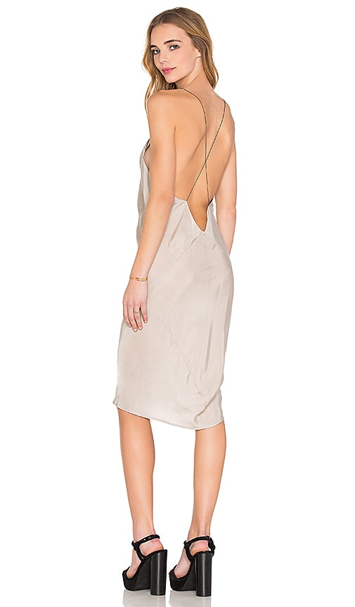 TITANIA INGLIS Plunge Slip dress in Silver