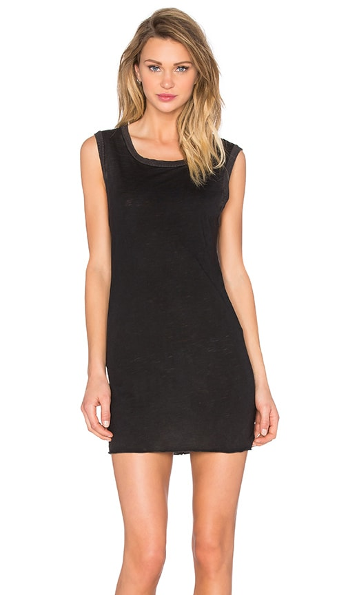 TYLER JACOBS Jasper Tank Dress in Black Velvet