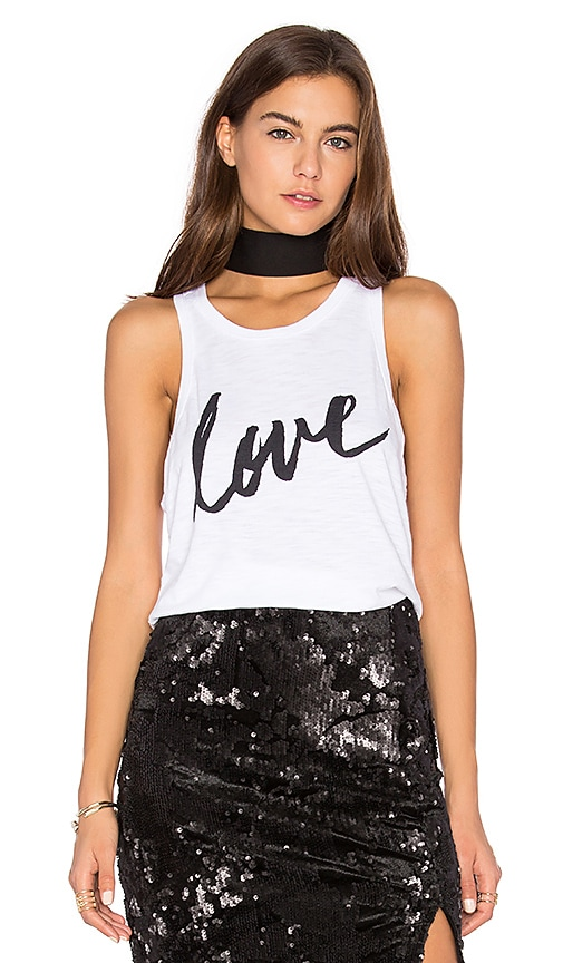 TYLER JACOBS Love Siro Tank in White