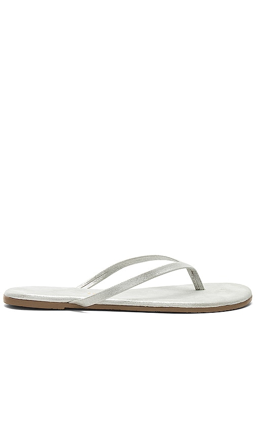 TKEES Sandal in Metallic Silver